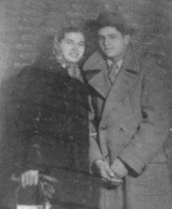 Domenico e Poldina in viaggio di nozze
