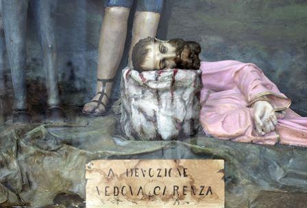 Sant'Oronzo decollato: particolare di un ex voto
